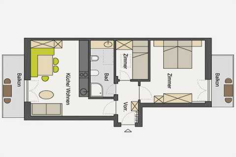 Floor plan of the apartment 5